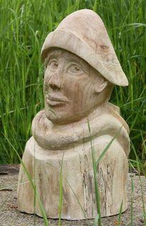 Havel, Fischerin, Weiden, Skulptur