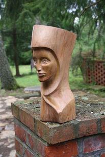 Holzskulptur, Uta von ballenstedt, Plastik, Malerei