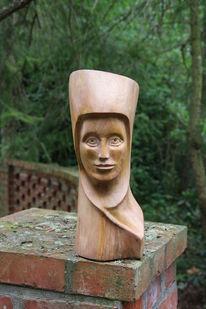 Uta von ballenstedt, Buchenholz, Skulptur, Holzskulptur