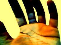 Handfläche, Handvoll, Handlinien, Farben