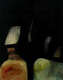 Fenster, Ölmalerei, Primärfarben, Dezent