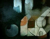 Erdtöne, Formen, Großformat, Malerei