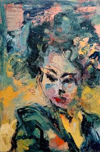 Farben, Ölaufcotton, Ölmalerei, Arbeit