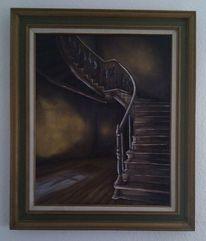 Gemälde, Malen, Stufe, Ölmalerei