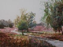 Natur, Landschaft, Heide, Baum