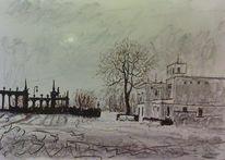 Glienicker, Wiese, Stadt, Brücke