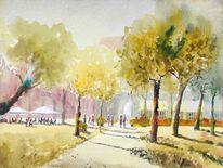Kaffee, Schloßgarten, Frankreich, Menschen