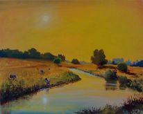 Weide, Landschaft, Dom, Kuh