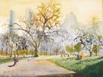 Park, Buggy, Natur, Luftballon