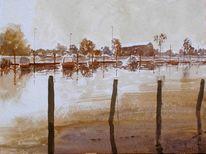 Boot, Hafen, Gebäude, Yachthafen