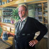 Portrait, Bayer, Krug, Bauernhof