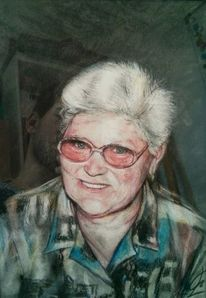 Portrait, Oma, Großmaul, Mutter