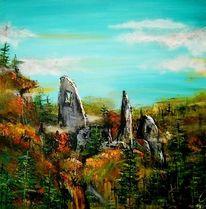 Farben, Blätter, Ruine, Burg