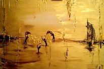 Goldfluss, Eimer, Überfluss, Menschen