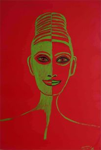 Portrait, Orientalin, Frau, Haare