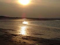 Sonnenuntergang, Seeland, Meer, Strand