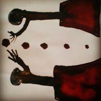 Augen, Herz, Schmerz, Malerei