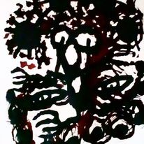 Augen, Hände, Mund, Malerei