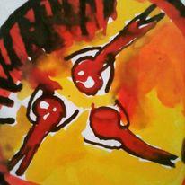 Hände, Herz, Menschen, Malerei