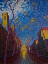 Malerei, Barcelona, Herbst