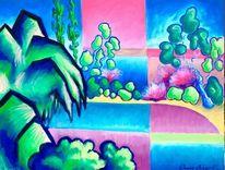 Baum, Berlin, Park, Malerei