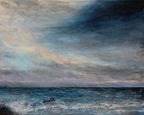 Malerei, Wasser, Himmel, Meer