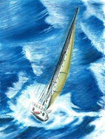 Segelboot, Sturmsegler, Zeichnungen, Freiheit
