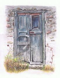 Alte türen, Tür, Türzeichnung, Zeichnungen