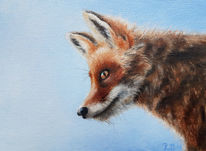 Fuchs, Ölmalerei, Realismus, Tierportrait