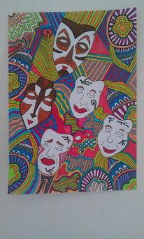 Malerei, Maskenball