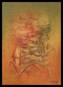 Malerei, Surreal, Mischtechnik, Zeichnen