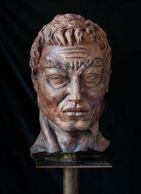 Figurativ, Keramik, Kopf, Heidelberg