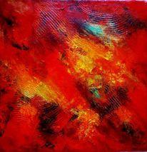 Triptychon, Orange, Experimentell, Grün