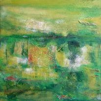 Zurückkehren, Grün, Schicht, Landschaft