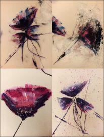 Frühling, Tuschmalerei, Dynamik, Experimentell