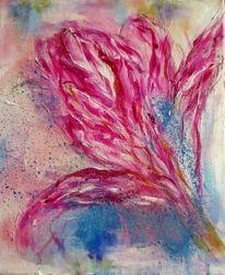Graphitkreide, Frühling, Aufblühen, Pastellmalerei
