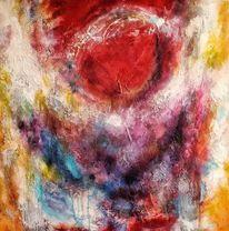 Sonne, Acrylmalerei, Lack, Experimentell