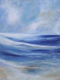 Expressionismus, Stimmung, Kreide, Wolken