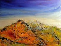 Pastellmalerei, Acrylmalerei, Himmel, Berge