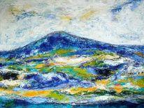 Landschaft, Berge, Kontrast, Expressionismus
