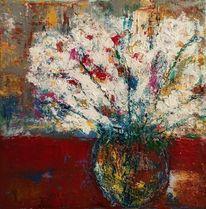Experimentell, Abstrakt, Acrylmalerei, Blumen
