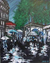 Malerei, Pluie2, Frankreich,