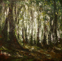 Wald, Natur, Acrylmalerei, Rinde