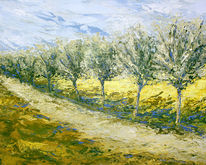 Baum, Landschaft, Wiese, Rheinaue