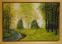 Landschaft, Natur, Wald, Bach