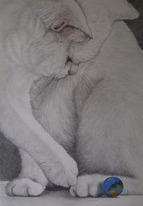 Katze, Global player, Erde, Zeichnungen