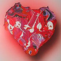 Herz, Acrylmalerei, Malerei, Acrylglas