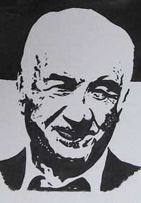 Portrait, Armin müller, Malerei, Stahl