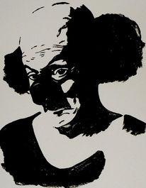 Clown, Acrylmalerei, Malerei, August