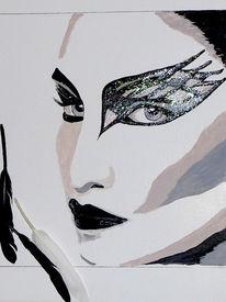 Schwan, Malerei, Black swan, Acrylmalerei